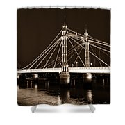 The Albert Bridge London Sepia Toned Shower Curtain