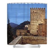 The Alcazaba The Alhambra Shower Curtain