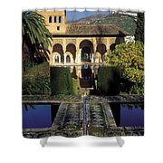 The Alhambra Palace Of The Partal Shower Curtain