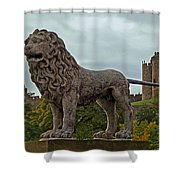 The Alnwick Lion Shower Curtain