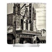 The Ambler Theater In Sepia Shower Curtain