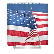 The American Flag Hangs Shower Curtain