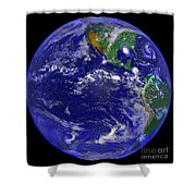 The Americas And Hurricane Andrew Shower Curtain by Stocktrek Images
