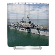 The Amphibious Assault Ship Uss Wasp Shower Curtain