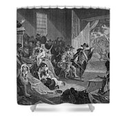 The Angel Of Hadley, 1675 Shower Curtain