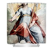 The Angel Of Justice Shower Curtain