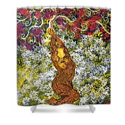 The Angel Tree Shower Curtain