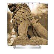 The Angry Lion Shower Curtain