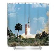 The Apollo 16 Space Vehicle Is Launched Shower Curtain