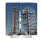 The Apollo 8 Space Vehicle Shower Curtain