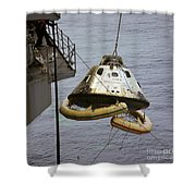 The Apollo 9 Command Module Is Hoisted Shower Curtain