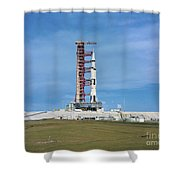 The Apollo Saturn 501 Launch Vehicle Shower Curtain
