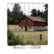The Apple Barn Shower Curtain by Lorraine Devon Wilke