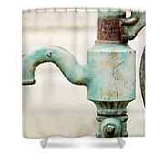 The Aqua Pump Shower Curtain