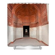 The Architecture And Doorways Of The Humayun Tomb In Delhi Shower Curtain