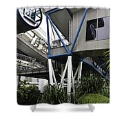 The Area Below The Capsules Of The Singapore Flyer Shower Curtain