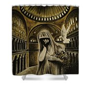 The Arrival Shower Curtain by Carla Carson