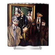 The Art Critic Shower Curtain