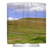 The Ascent Of Mam Tor Shower Curtain