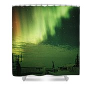 The Aurora Borealis Shimmers Shower Curtain