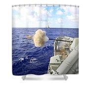 The Australian Navy Frigate Hmas Shower Curtain