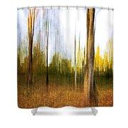 The Backyard Shower Curtain
