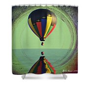 The Balloon And The Sea Shower Curtain