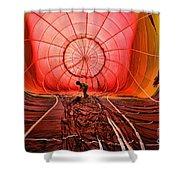 The Balloonist - Inside A Hot Air Balloon Shower Curtain