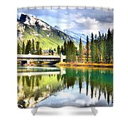 The Banff Bridge Shower Curtain