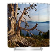 The Banks Of Crater Lake Shower Curtain