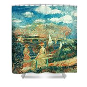 The Banks Of The Seine At Argenteuil Shower Curtain