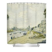 The Banks Of The Seine At Bougival Shower Curtain