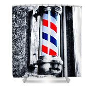 The Barber Pole Shower Curtain