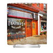 The Barber Shop Shower Curtain