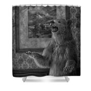 The Bare Wall Shower Curtain