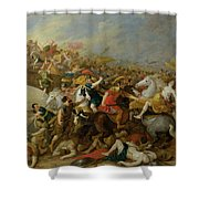 The Battle Between The Amazons And The Greeks Shower Curtain