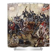 The Battle Of Spotsylvania Shower Curtain by Henry Alexander Ogden