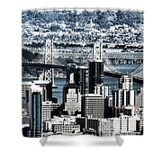 The Bay Bridge Shower Curtain
