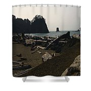 The Beach At Twilight Shower Curtain by Kym Backland