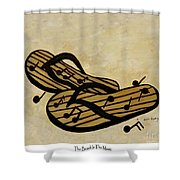 The Beach Is The Music Shower Curtain