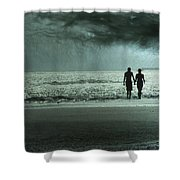 The Beachcombers Shower Curtain by Amy Tyler