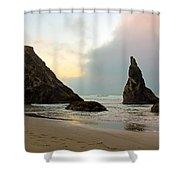 The Beaches Of Bandon Oregon Shower Curtain