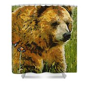 The Bear Painterly Shower Curtain