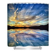 The Beauty Before The Darkness Shower Curtain