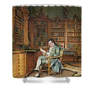 The Bibliophile Shower Curtain