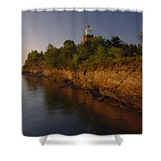 The Big Bay Point Lighthouse, Now A Bed Shower Curtain