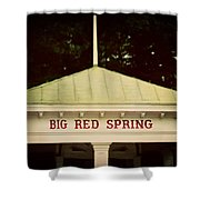 The Big Red Spring Shower Curtain by Lisa Russo