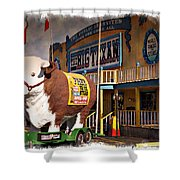 The Big Texan - Impressions Shower Curtain