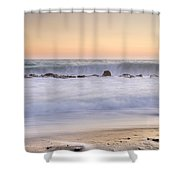 The Big Wave Shower Curtain