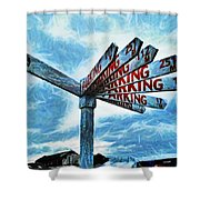 The Biggest Car Park In The World Shower Curtain
